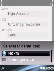 Nokia E75 - E-mail - Hoe te versturen - Stap 9