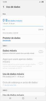 Samsung Galaxy A50 - Rede móvel - Como ativar e desativar uma rede de dados - Etapa 7