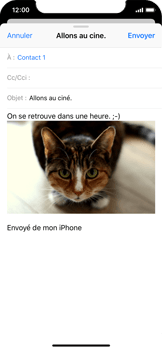 Apple iPhone X - E-mail - Envoi d