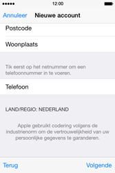 Apple iPhone 4s iOS 8 - Applicaties - Account aanmaken - Stap 25