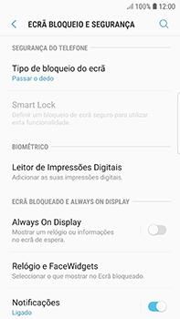 Samsung Galaxy S7 Edge - Android Oreo - Segurança - Como ativar o código de bloqueio do ecrã -  5