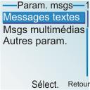 Nokia 6030 - SMS - configuration manuelle - Étape 5
