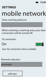HTC C110e Radar - Internet - Manual configuration - Step 6