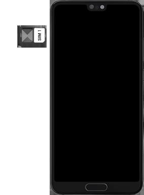 Huawei P20 - Premiers pas - Insérer la carte SIM - Étape 5