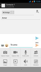 Wiko Stairway - Mensajería - Escribir y enviar un mensaje multimedia - Paso 14