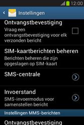 Samsung S6810P Galaxy Fame - SMS - handmatig instellen - Stap 8