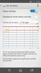 Sony Xperia Z3 - Internet - Ver uso de datos - Paso 8