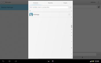 Sony Xperia Tablet Z - Mensajería - Escribir y enviar un mensaje multimedia - Paso 6
