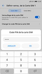Honor 9 - Sécuriser votre mobile - Personnaliser le code PIN de votre carte SIM - Étape 8