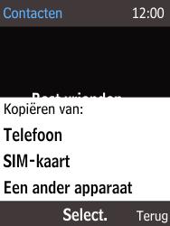 Nokia 216 - Contacten en data - Contacten kopiëren van SIM naar toestel - Stap 6