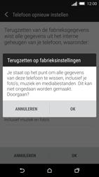 HTC One M8s (Model 0PKV100) - Instellingen aanpassen - Fabrieksinstellingen terugzetten - Stap 7