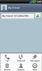LG P970 Optimus Black - Mms - Sending a picture message - Step 6