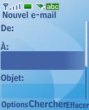 Nokia 3110 classic - E-mail - envoyer un e-mail - Étape 5