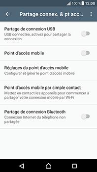Sony Xperia XA1 Ultra - Internet et connexion - Partager votre connexion en Wi-Fi - Étape 6
