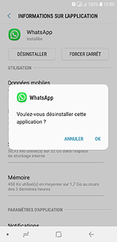 Samsung Galaxy A6 - Applications - Supprimer une application - Étape 7