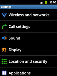 Samsung S5360 Galaxy Y - MMS - Manual configuration - Step 4