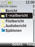 Nokia 2720 fold - E-mail - E-mails verzenden - Stap 5