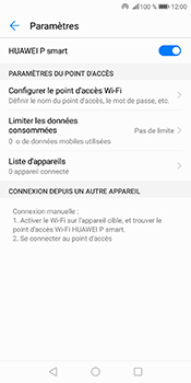 Huawei P Smart - Internet et connexion - Partager votre connexion en Wi-Fi - Étape 11