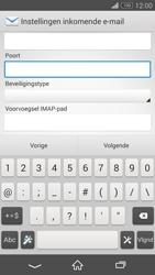 Sony D6603 Xperia Z3 - E-mail - e-mail instellen: IMAP (aanbevolen) - Stap 10