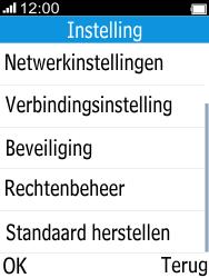 Alcatel 2045 (2045X) - Instellingen aanpassen - Fabrieksinstellingen terugzetten - Stap 4