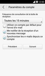 Huawei Ascend Y330 - E-mail - Configuration manuelle - Étape 18