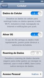 Apple iPhone iOS 6 - Rede móvel - Como ativar e desativar uma rede de dados - Etapa 5