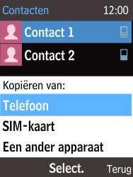 Nokia 220 - Contacten en data - Contacten kopiëren van toestel naar SIM - Stap 6
