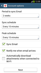 Samsung I9195 Galaxy S IV Mini LTE - E-mail - Manual configuration (yahoo) - Step 7