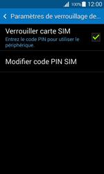 Samsung Galaxy Ace 4 - Sécuriser votre mobile - Personnaliser le code PIN de votre carte SIM - Étape 6