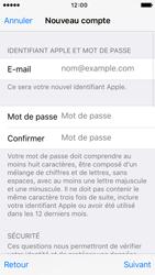 Apple iPhone 5s iOS 9 - Applications - Créer un compte - Étape 12