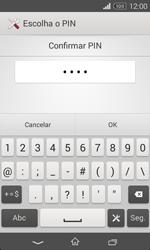 Sony Xperia E1 - Segurança - Como ativar o código de bloqueio do ecrã -  10