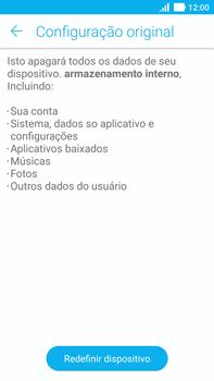 Asus Zenfone 3 - Funções básicas - Como restaurar as configurações originais do seu aparelho - Etapa 8