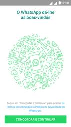 """Alcatel Pixi 4 (5"""") - Aplicações - Como configurar o WhatsApp -  5"""