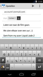 Acer Liquid Jade Z - E-mail - Hoe te versturen - Stap 9