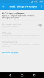 Sony Xperia Z5 Compact (E5823) - WiFi - Mobiele hotspot instellen - Stap 10