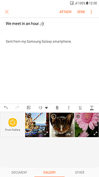 Samsung Galaxy J7 (2017) - Email - Sending an email message - Step 12