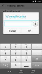 Huawei Ascend P7 - Voicemail - Manual configuration - Step 8