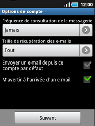 Samsung S5570 Galaxy Mini - E-mail - Configurer l