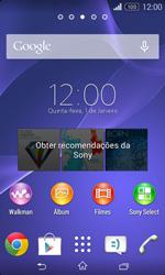 Sony Xperia E1 - Internet no telemóvel - Como configurar ligação à internet -  1