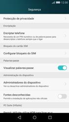 Huawei P8 Lite - Segurança - Como ativar o código PIN do cartão de telemóvel -  4