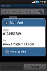 Samsung Galaxy Ace - Contact, Appels, SMS/MMS - Envoyer un SMS - Étape 6