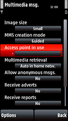 Nokia 5800 Xpress Music - Mms - Manual configuration - Step 22