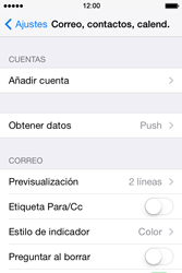 Apple iPhone 4S iOS 7 - E-mail - Configurar Yahoo! - Paso 4