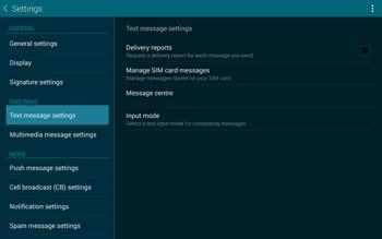 Samsung T805 Galaxy Tab S - SMS - Manual configuration - Step 9