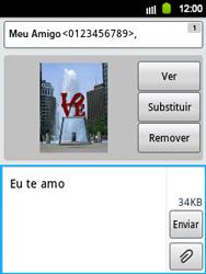 Samsung Galaxy Y - Mensagens - Como criar e enviar mensagens multimídia (MMS) - Etapa 13