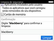 BlackBerry 9620 - Funções básicas - Como restaurar as configurações originais do seu aparelho - Etapa 8