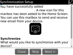 BlackBerry 9300 Curve 3G - Email - Manual configuration - Step 11