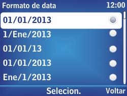 Nokia Asha 302 - Funções básicas - Como configurar data e hora - Etapa 12