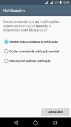 Sony Xperia X Dual SIM (F5122) - Segurança - Como ativar o código de bloqueio do ecrã -  12