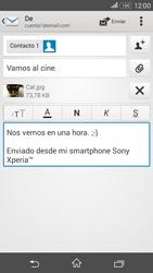 Sony Xperia E4g - E-mail - Escribir y enviar un correo electrónico - Paso 14